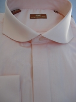 Steven Land Peach Cutaway Collar Dress Shirt
