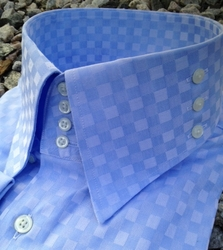 MorCouture Blue 4-Button 3-Button Side High Collar Shirt size 4XL (19.5 - 20)