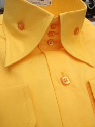 Angelino Bello Yellow High Collar Shirt