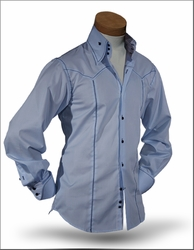 Angelino Elmo Blue High Collar Shirt