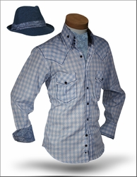 Angelino X Blue with Ascot and Fedora
