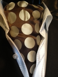 Brown Gold Big Spot Ascot with Matching Hanky