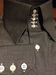 Limited Edition Dark Gray Oxford 5 Button Centipede High Collar Shirt