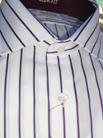 Purple Pinstripe Spread Collar Dress Shirt size 17.5