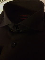 Axxess Black Cutaway High Collar Shirt