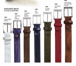 Belvedere Matching Belts