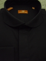 Steven Land Black Cutaway Collar Dress Shirt size 17.5