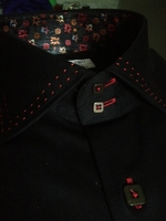 Angelino Black Red Double Stitch Shirt size L(16.5)
