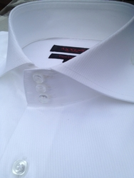 Axxess White Cutaway High Collar Shirt