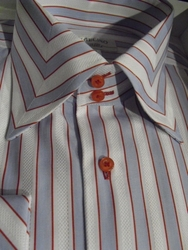 Angelino MST Blue Red Stripe shirt size 20