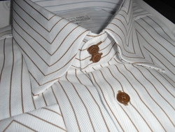Angelino DST Brown Stripe shirt size 20