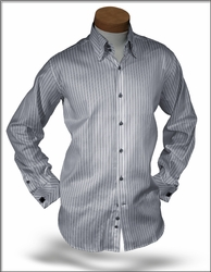 Angelino DST Grey Stripe shirt <br>