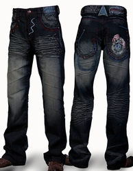 Angelino Lion Blue Denim Jeans
