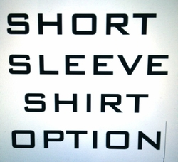 Short sleeve shirt option