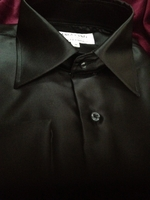 Angelino Black Dress Shirt size 16 (M)