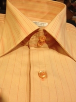 Angelino MST Peach Stripe Dress Shirt size 16