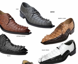 Belvedere Zeno Hornback Crocodile Shoes