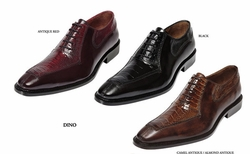 Belvedere Dino Ostrich and Italian Calfskin Shoes