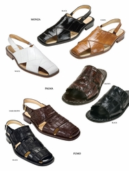 Sold Out --Belvedere Monza Palma Fumo Sandals