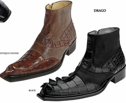 Belvedere Drago Hornback Crocodile and Calf Boots