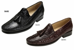 Belvedere Bari Caiman Crocodile and Ostrich Shoes