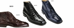 Belvedere Rico Crocodile and Ostrich Boots