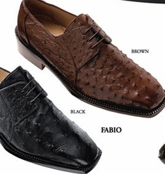 Belvedere Fabio Ostrich Shoes