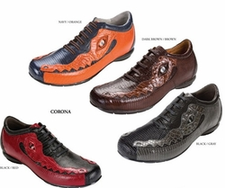 Belvedere Corona Lizard and Caiman Crocodile Shoes