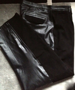 MorCouture Suede and Leather Pants-Black (Custom)