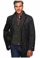 Black Quilted Blazer Cut Coat size XXL. (fits 46R ->48R)