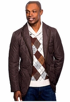 Brown Quilted Blazer Cut Coat size XXL. (fits 46R ->48R)