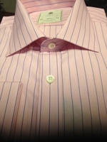 H&C Pink Blue Stripe Dress Shirt size 17(36L)