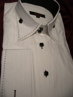AXXESS WOMENS HIGH COLLAR SHIRT -2button size 10