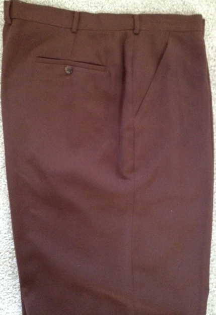 Creme De Silk  Mid Brown Silk Wide Leg Pants
