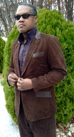 MorCouture Brown Suede/Lambskin Leather Blazer (view#2)