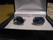 Blue Stone Cuff Links