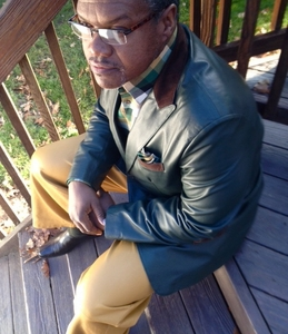 MorCouture Green Leather Blazer with Brown Suede accents