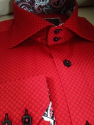 Axxess Red Diamond Pattern Shirt