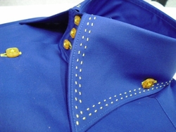 Axxess Blue with Gold High Collar Shirt