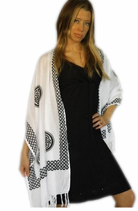 """Celtic Knot Scarf """"White"""""""