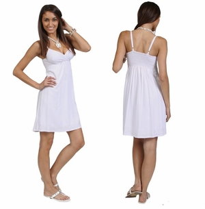 Short Summer Dress - Lined in White