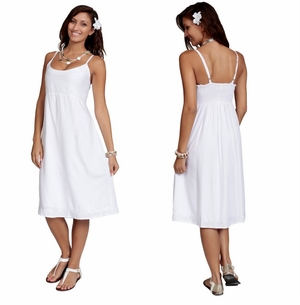 SUNDRESS - WHITE - LINED