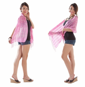 Silk Scarf in Pink - Assorted
