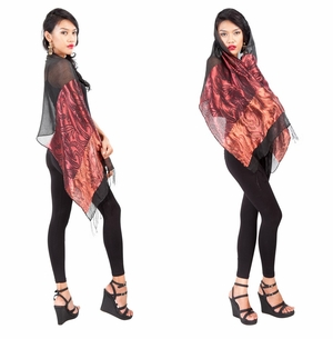 Elegant Silky Scarf in Black - Assorted