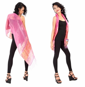 Elegant Silky Scarf in Pink - Assorted