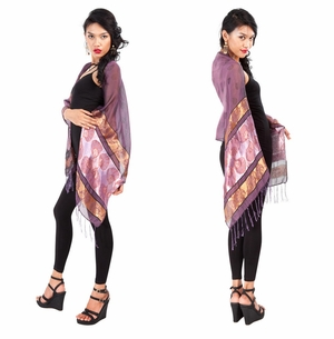 Elegant Silky Scarf in Purple - Assorted