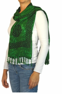 "Celtic Knot Scarf ""Green"""