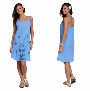 Womens Sundress - Bamboo Blue