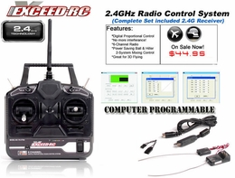 Exceed RC 6-Ch 2.4Ghz Transmitter w/ Receiver (Full Version) for RC Helicopters & Airplanes