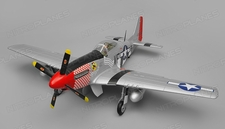 Airfield RC P51 Warbird 6 Channel Almost Ready to Fly  1450mm Wingspan (Red)
